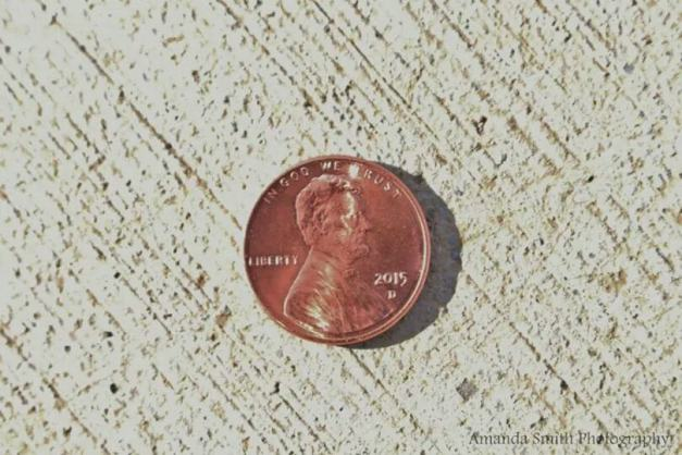 Penny on the ground